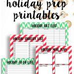 holiday organzation Printables | free holiday printables
