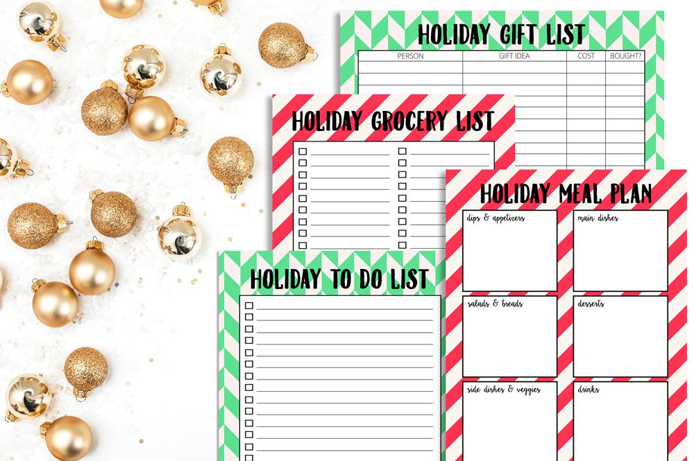 Prepping for the Holidays (with Free Holiday Organization Printables!)