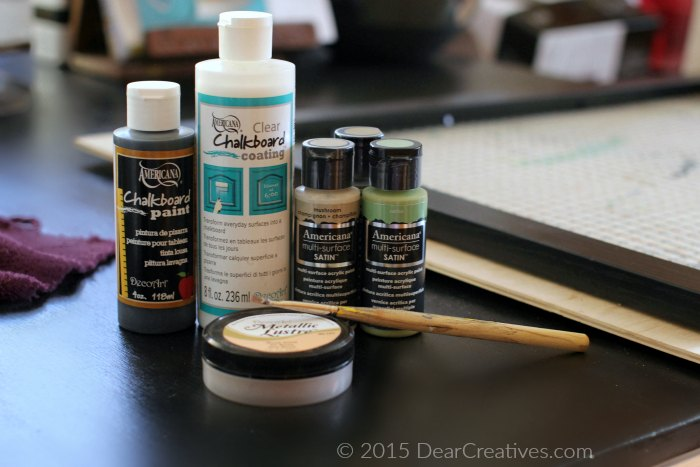Americana acrylic paint chalboard paint| Craft Storage Supplies For DIY