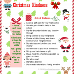 Free Printables |Christmas Kindness | Simple Acts of Kindness |Free Printable