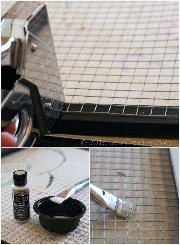 Craft Storage| Using staple gun and painting screen for craft storage