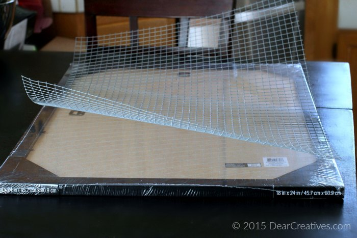 Frame and Wire for Craft Storage Project