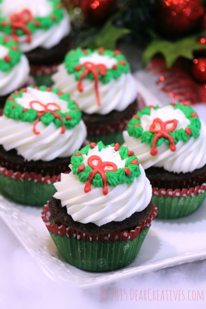 Wreath Cupcakes Cupcakes Recipe Frosting And Icing Recipe