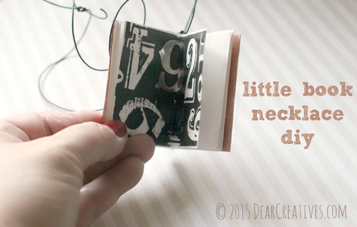 Crafts |Little book necklace