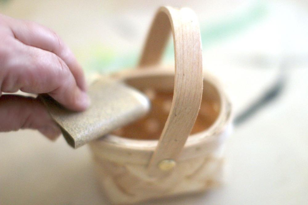 Christmas Crafts Sanding mini Basket IMG_6711