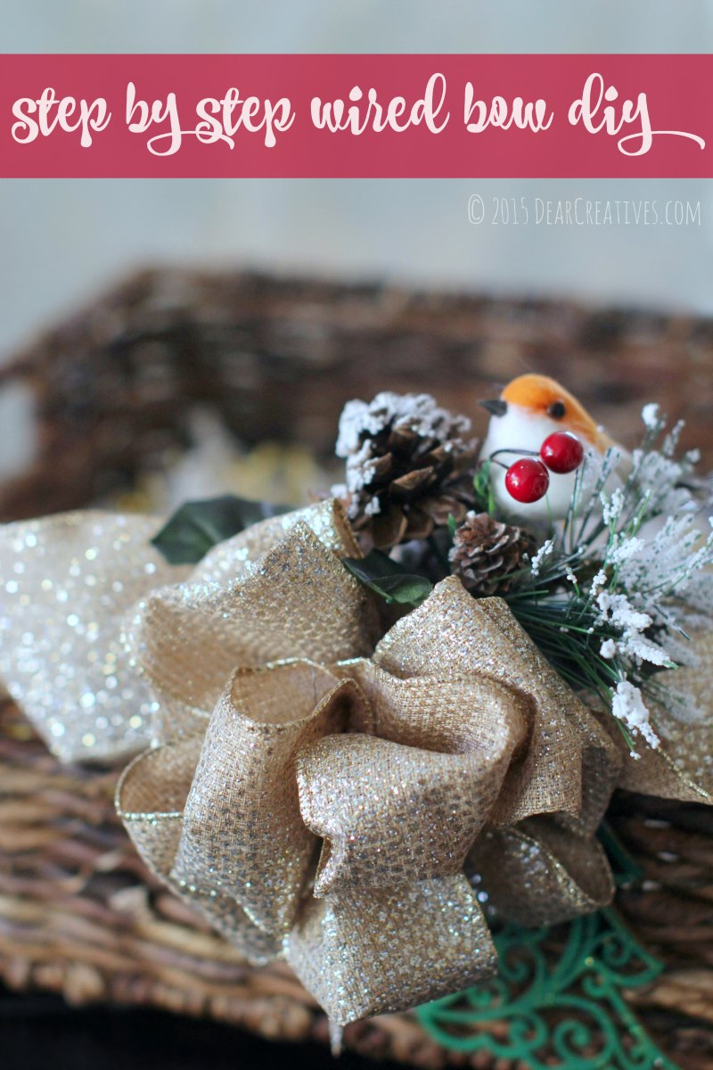 gift baskets |Step by Step wired bow diy