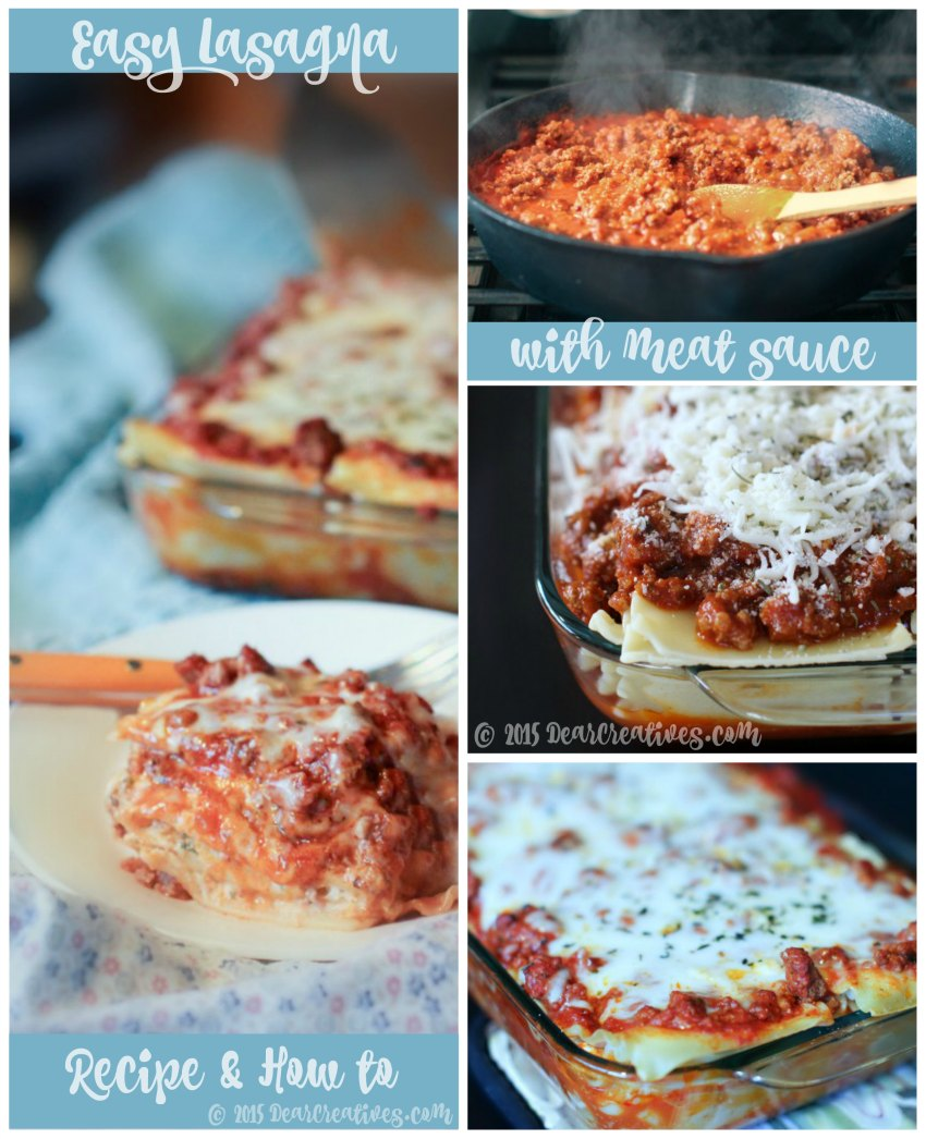 Lasagna Recipe: Easy Lasagna With Meat Sauce
