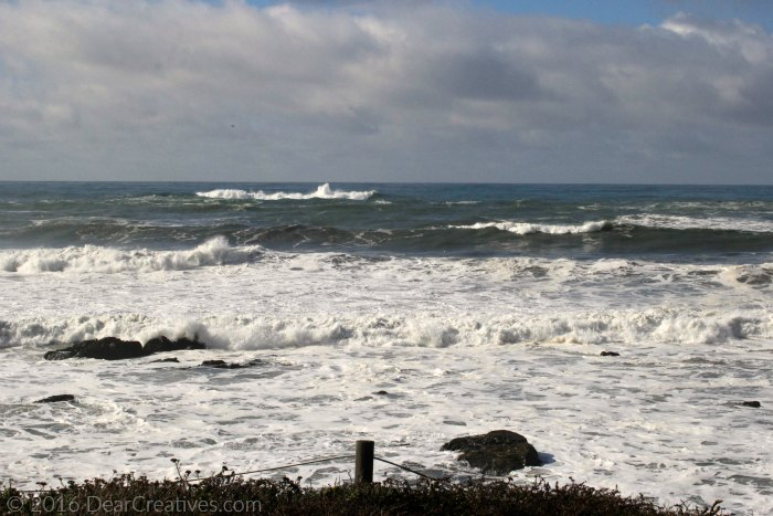 Photography |Ocean waters at high tide Cambria CA