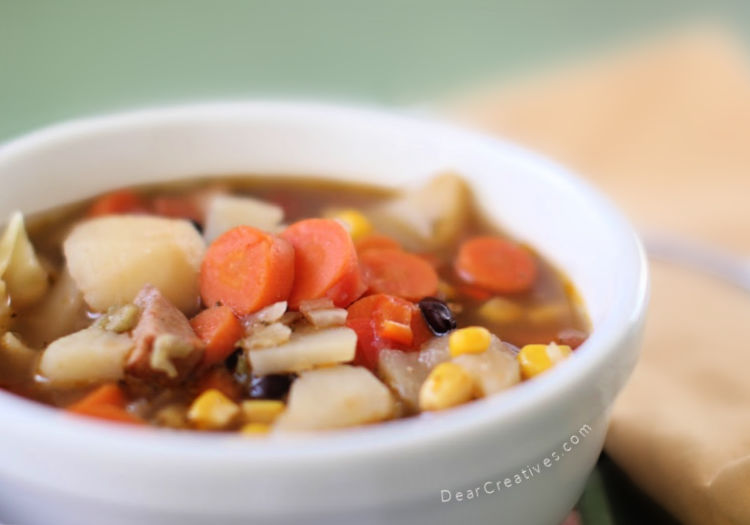 Hearty Vegetable Soup With 3 Variations That Is Easy To Make!