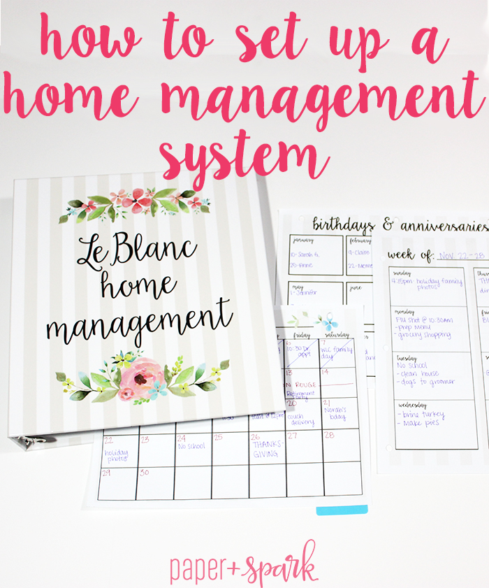 how to set up a home management system