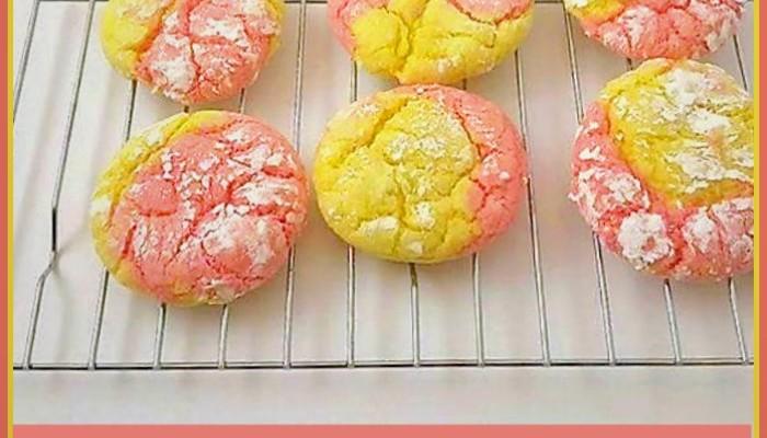 Cookie Recipes: Strawberry Lemonade Crinkle Cookies