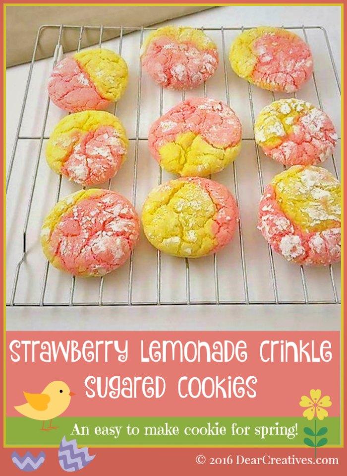 Cake Mix Strawberry And Lemon Cookies Site Pinterest Com