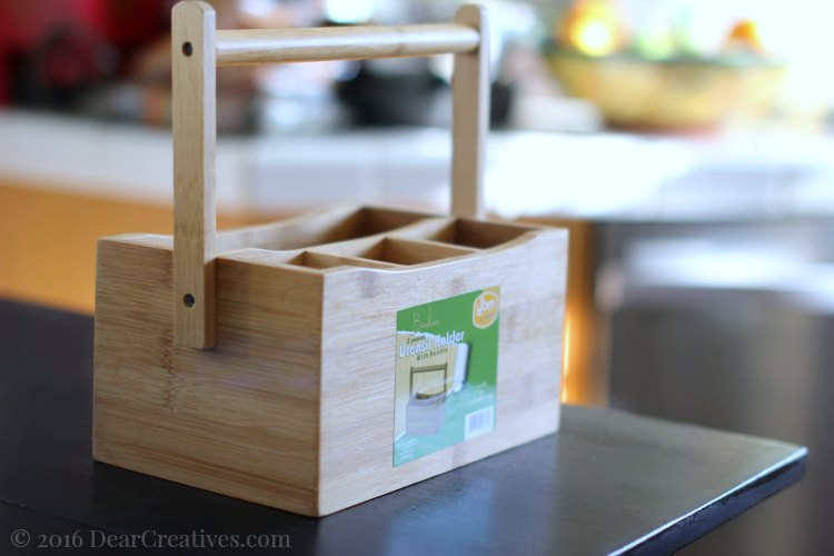 Easter Decorations | Easter Brunch DIY | wood utensil holder