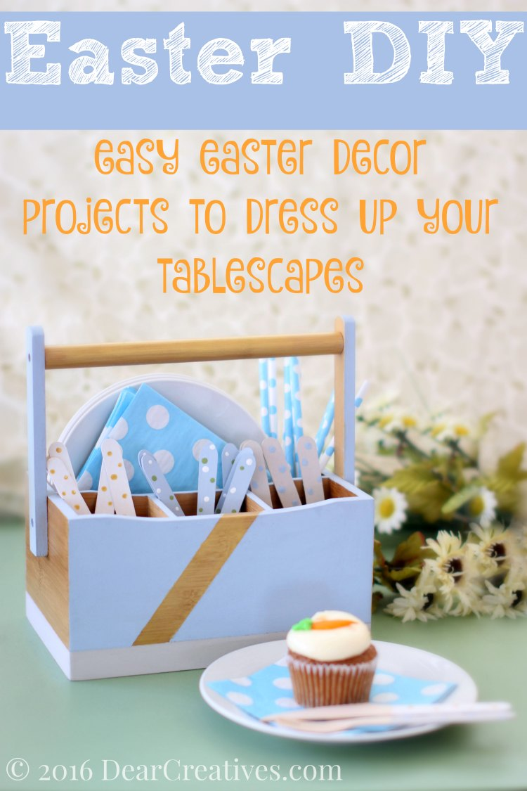 Easter decorations | Easter DIY | Upcycyled Utensil Holder and Utensils