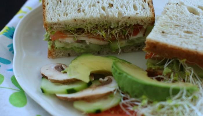 Sandwich Ideas: Guacamole Veggie Sandwich