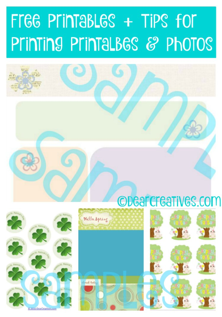 Free Printables Plus Tips for Printing Printables Photos and Standar Printing Tips