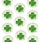 Shamrock St. Patricks Day Cupcake Topper Free Printables