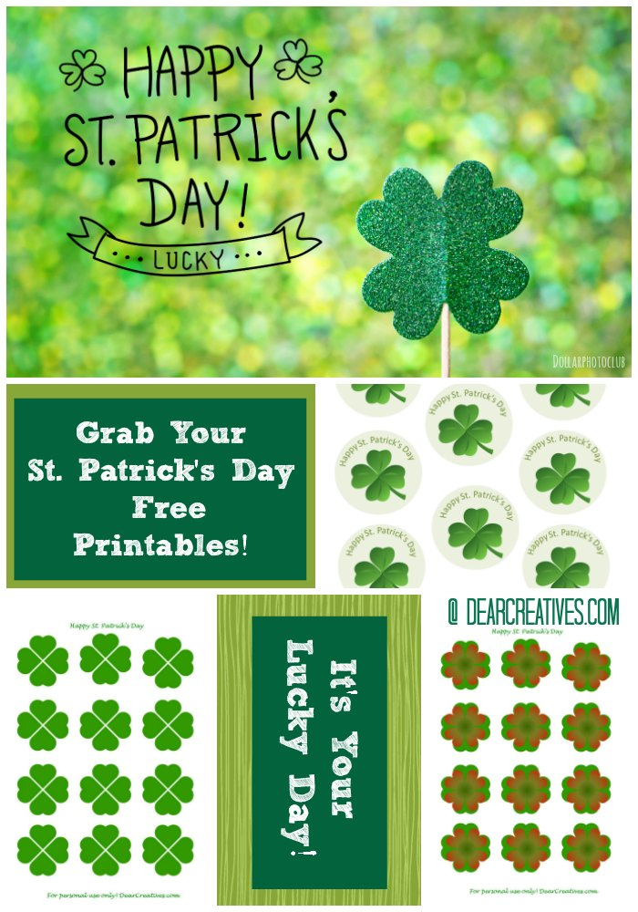 Free Printables: St. Patrick's Day Cupcake Toppers
