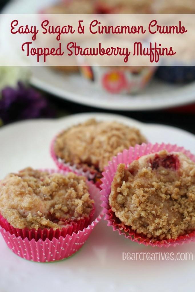 Muffin Recipes |Strawberry Crumb Muffins| Strawberry muffins recipe