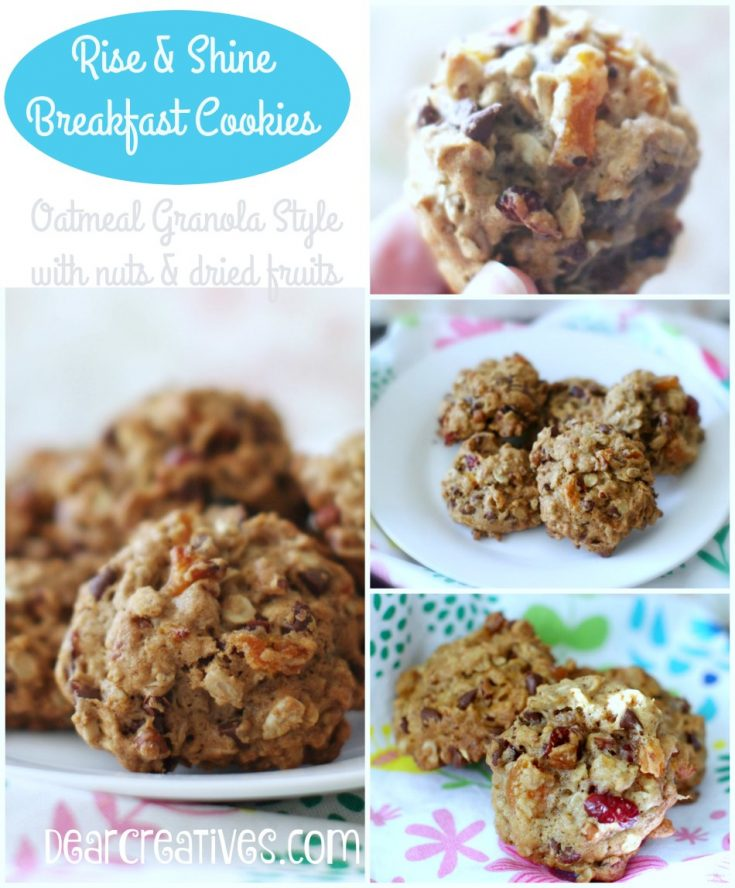 Oatmeal Breakfast Cookies - A delicious breakfast cookies recipe that is easy to make and adapt.Pairs well with coffee, tea, and other beverages. Warning these will be gone in no time flat! You can bake big batches and freeze them too! See all the ingredient variations you can try! Make and bake them now! Or pin it for later. #oatmealbreakfastcookies #breakfastcookies #breakfastcookiesrecipe #recipe #oatmealgranolabreakfastcookies