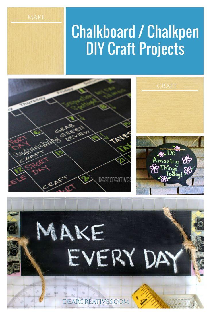 DIY Projects: Chalkpen Erasable Chalkboard & Chalkmarker Ideas