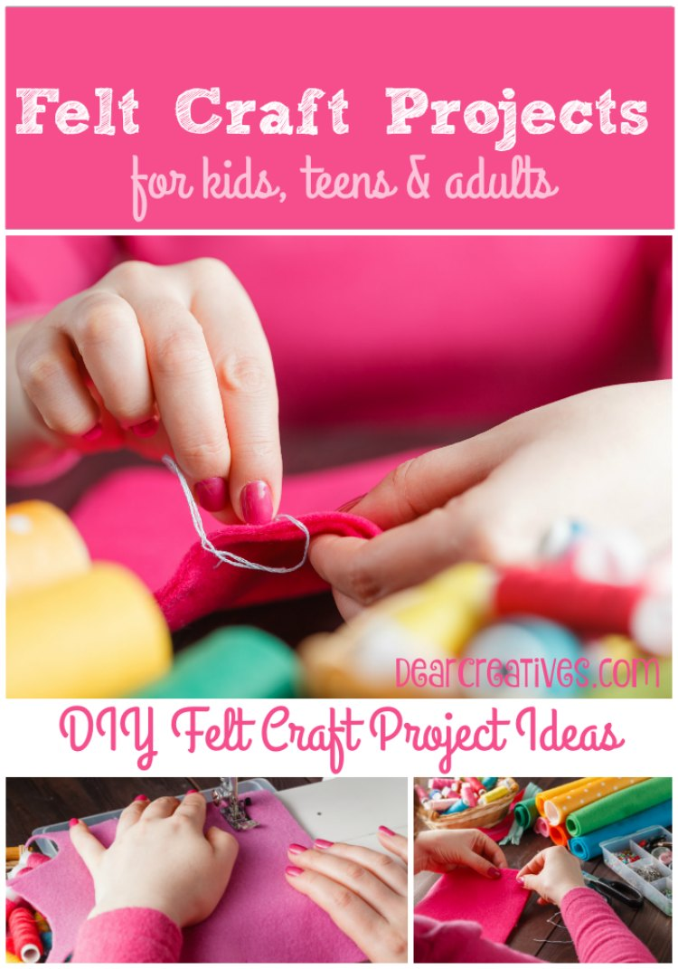 So Many easy DIY Felt craft project instructions