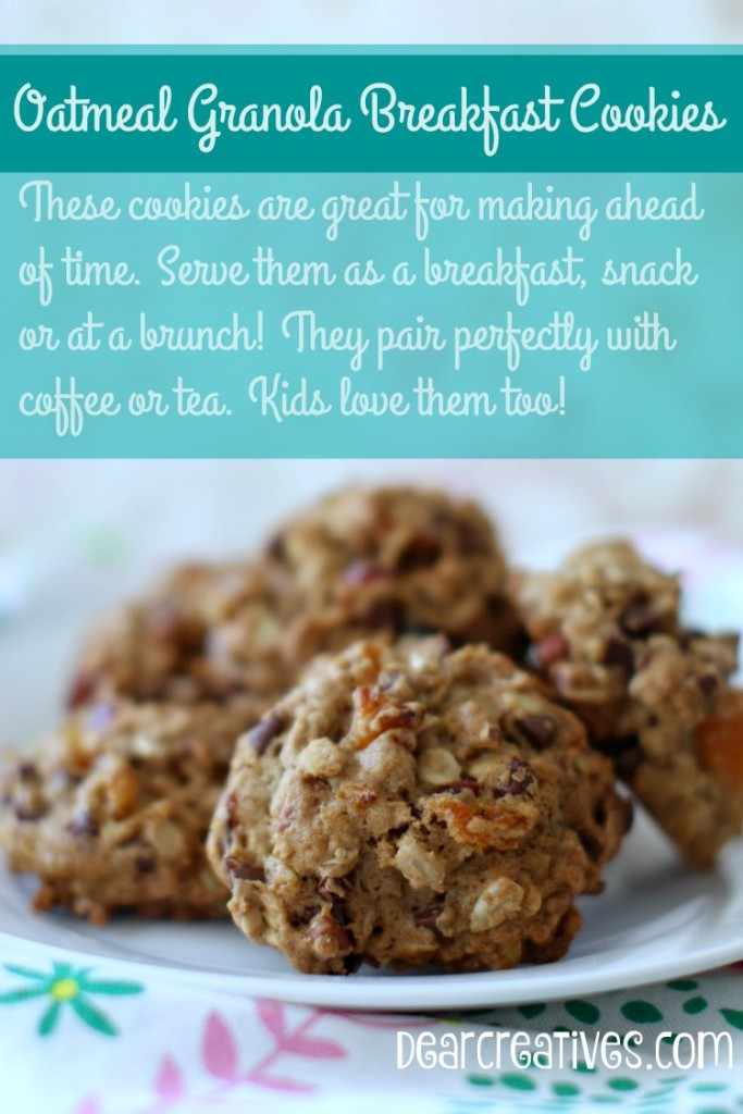 Oatmeal Granola Breakfast Cookies Recipe