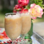 Drinks   Iced Chai Tea Lattes on a tray outdoors