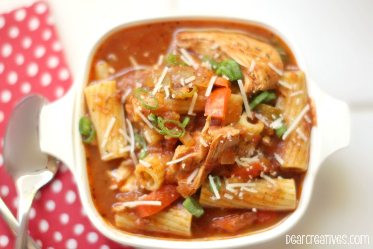 Easy Recipes Bowl of Chicken Cacciatore