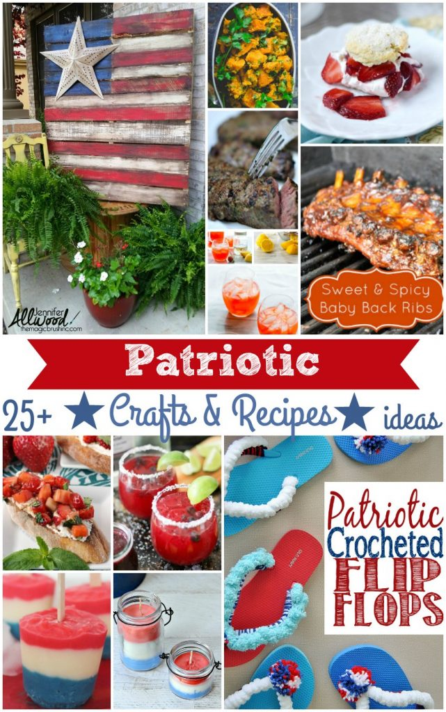Independence Day |A round up of Patriotic Recipe and Craft Ideas DearCreatives.com Perfect for hosting get together s or parties from Memorial Day to the 4th of July!
