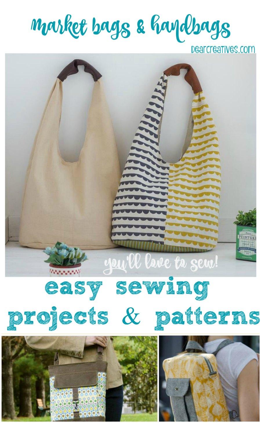 DIY Felt Craft Project Ideas | Felt Craft Projects | So many easy DIY felt craft - Sewing Patterns Market bags and handbags