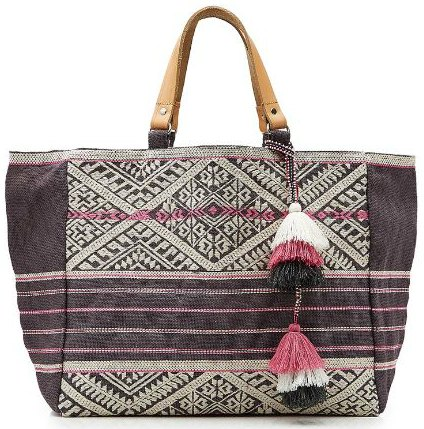 Star Mela Lexa Embroidered Jute Tote 2