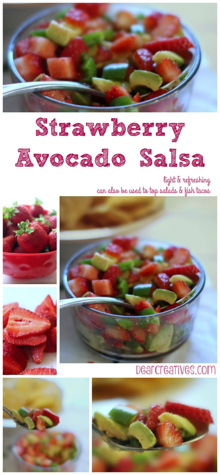Strawberry Avocado Salsa | An easy appetizer recipe that can be made ahead of time | party appetizer recipe