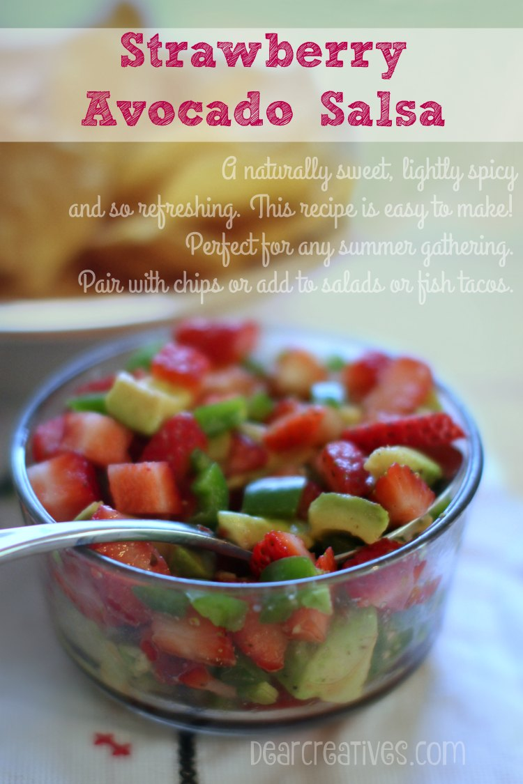 Appetizer Recipes: Strawberry Avocado Salsa | Easy Appetizer Recipe That you can make ahead of time