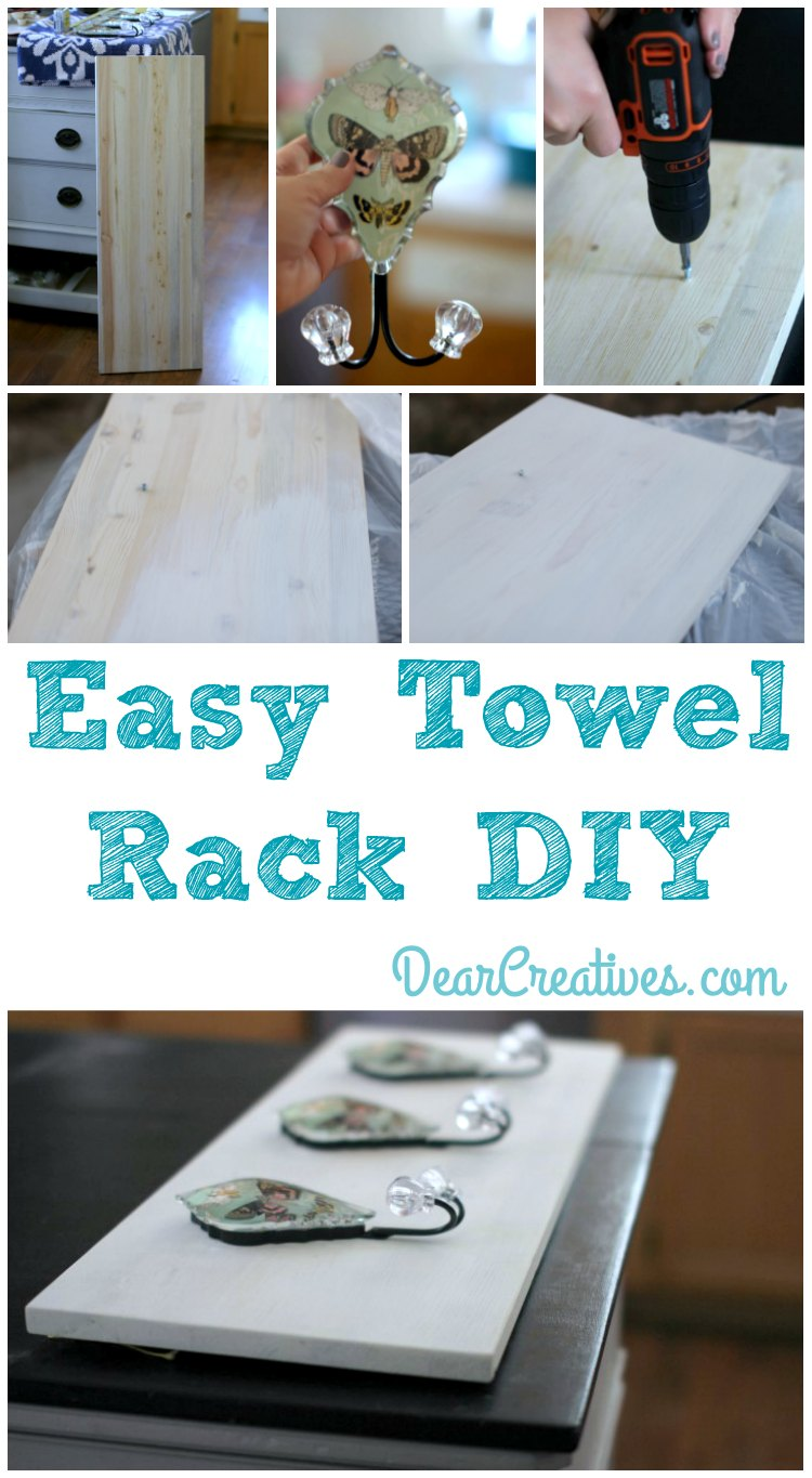 Easy DIY Improvement Projects: Towel Rack + Power Tools Giveaway!!