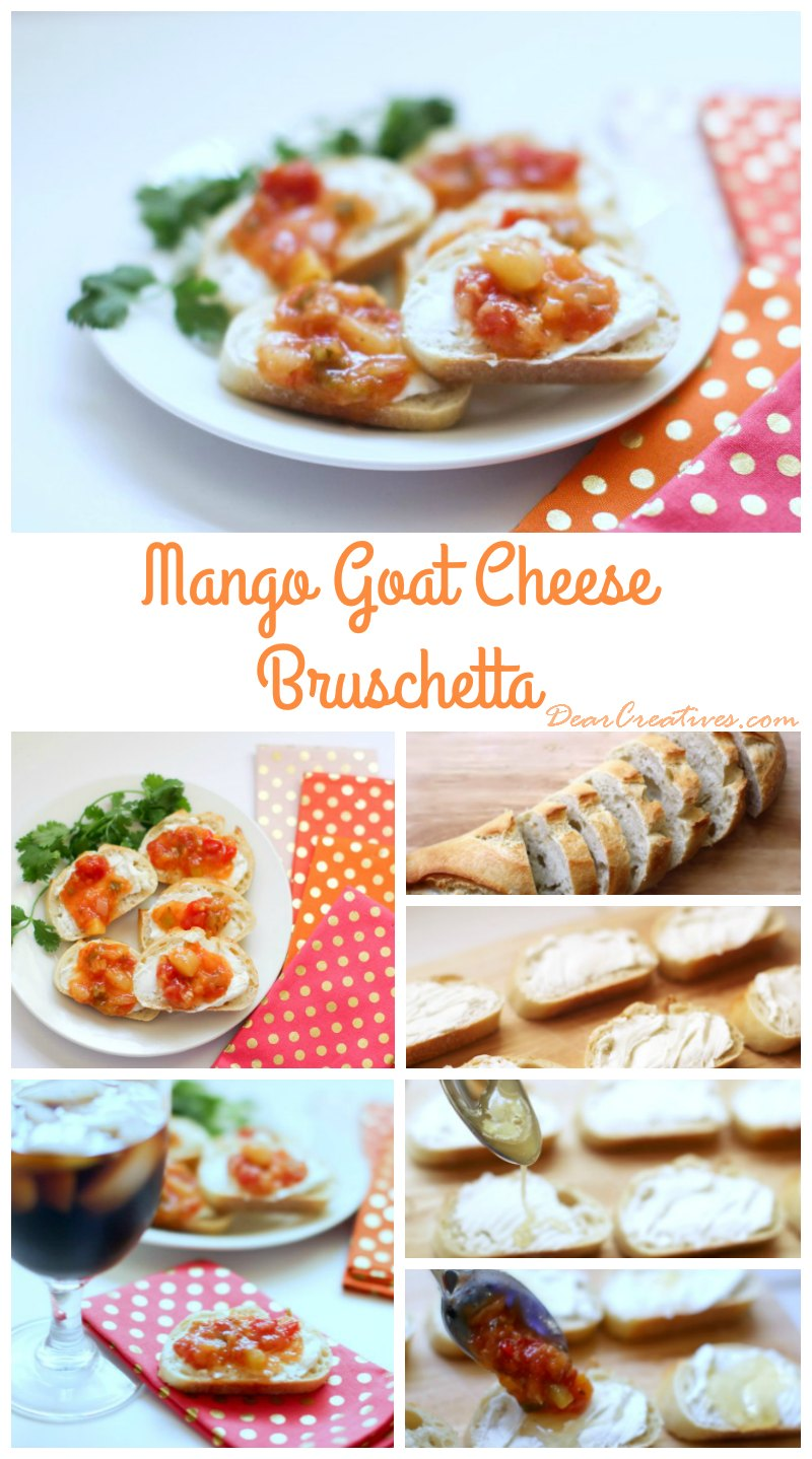 Appetizer Recipes: Mango Goat Cheese Bruschetta
