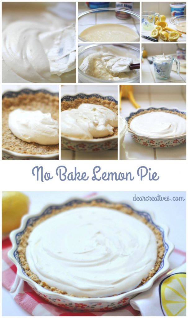 No Bake Lemon Pie | How to make a no bake lemon pie