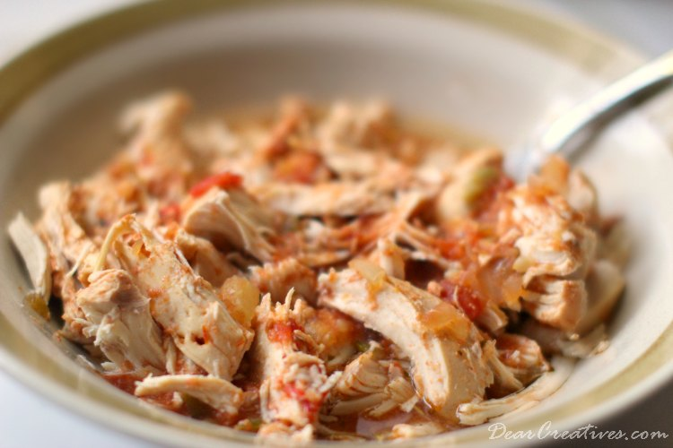 Slow Cooker Recipes Slow Cooker Chicken Tacos Chicken Taco Meat Shredded in a bowl Ready to serve