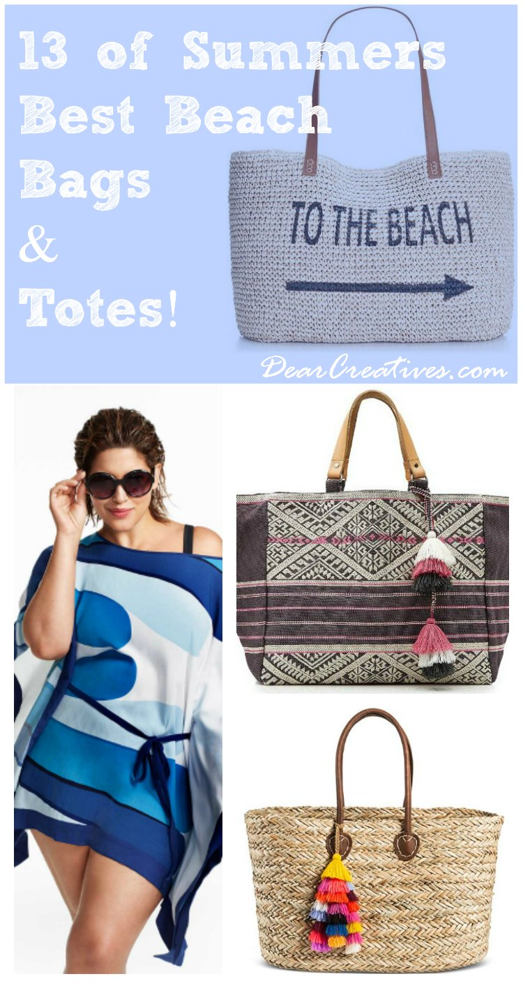 Tote Bags Fashion Trends | Summer Beach Bags and Totes. You'll love to take these to the beach or pool.