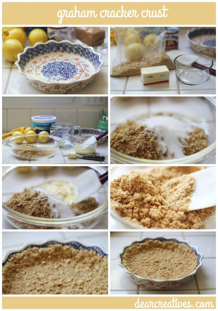 Pie Crusts For Bake and No Bake Desserts   how to make graham cracker crust