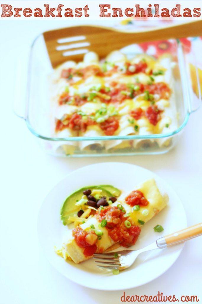 Breakfast Enchiladas Easy To Make Dish Perfect for breakfast, brunch or dinner