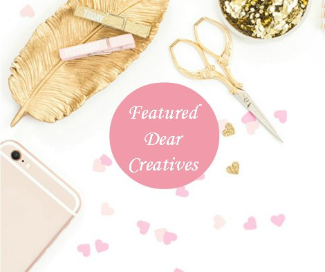 Dear Creatives Featured gold pink