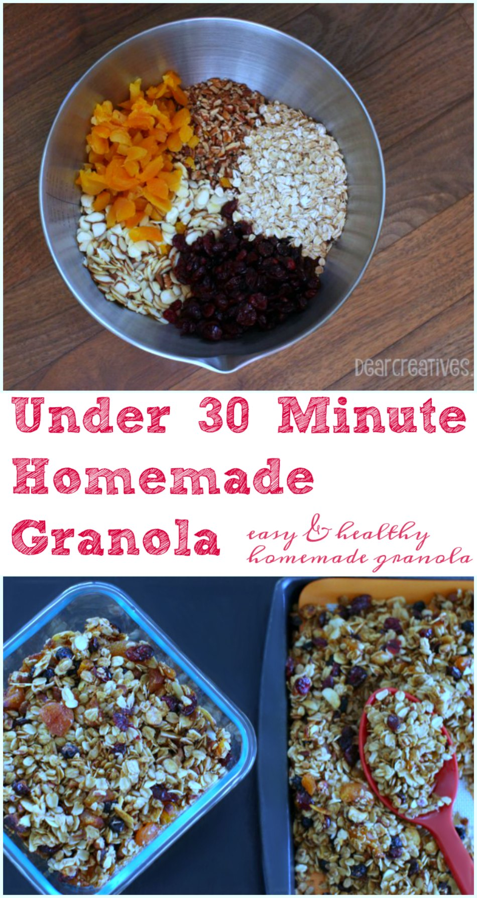 Granola Easy Healthy And Made Under 30 minutes Homemade Granola Recipe