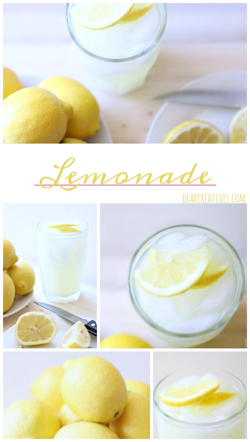 Lemons homemade lemonade a refreshing drink recipe that anyone can enjoy any time of year