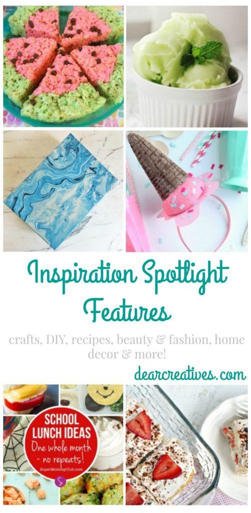 Linkup Party Inspiration Spotlight DearCreatives.com Where bloggers share their favorite crafts, DIY, recipes, home decor, beauty & fashion....