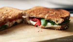 Grilled Cheese Sandwich Recipe: Grilled Cheese Caprese Sandwich