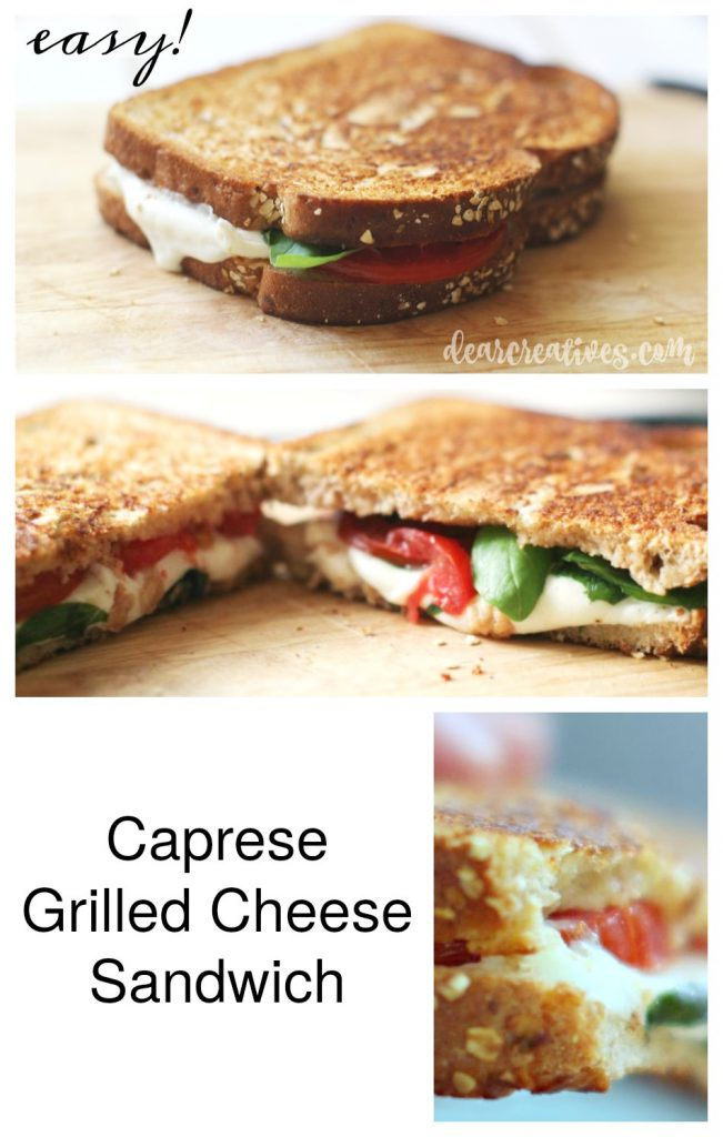 Sandwich Recipes How to Make a Caprese Sandwich flavorful with fresh tomatoes, basil and mozzarella grilled on bread