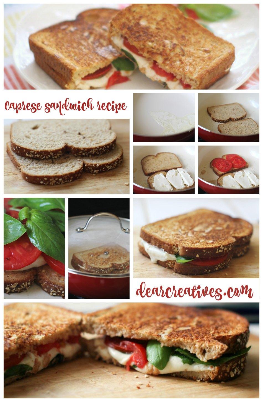 "Show Off Your Better Sandwich ""Recipe"" Caprese Sandwich  Plus Contest & Giveaway!!"