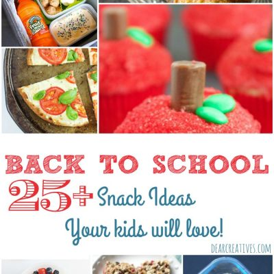 Back To School Snack Ideas & Recipes That Your Kids Will Love!