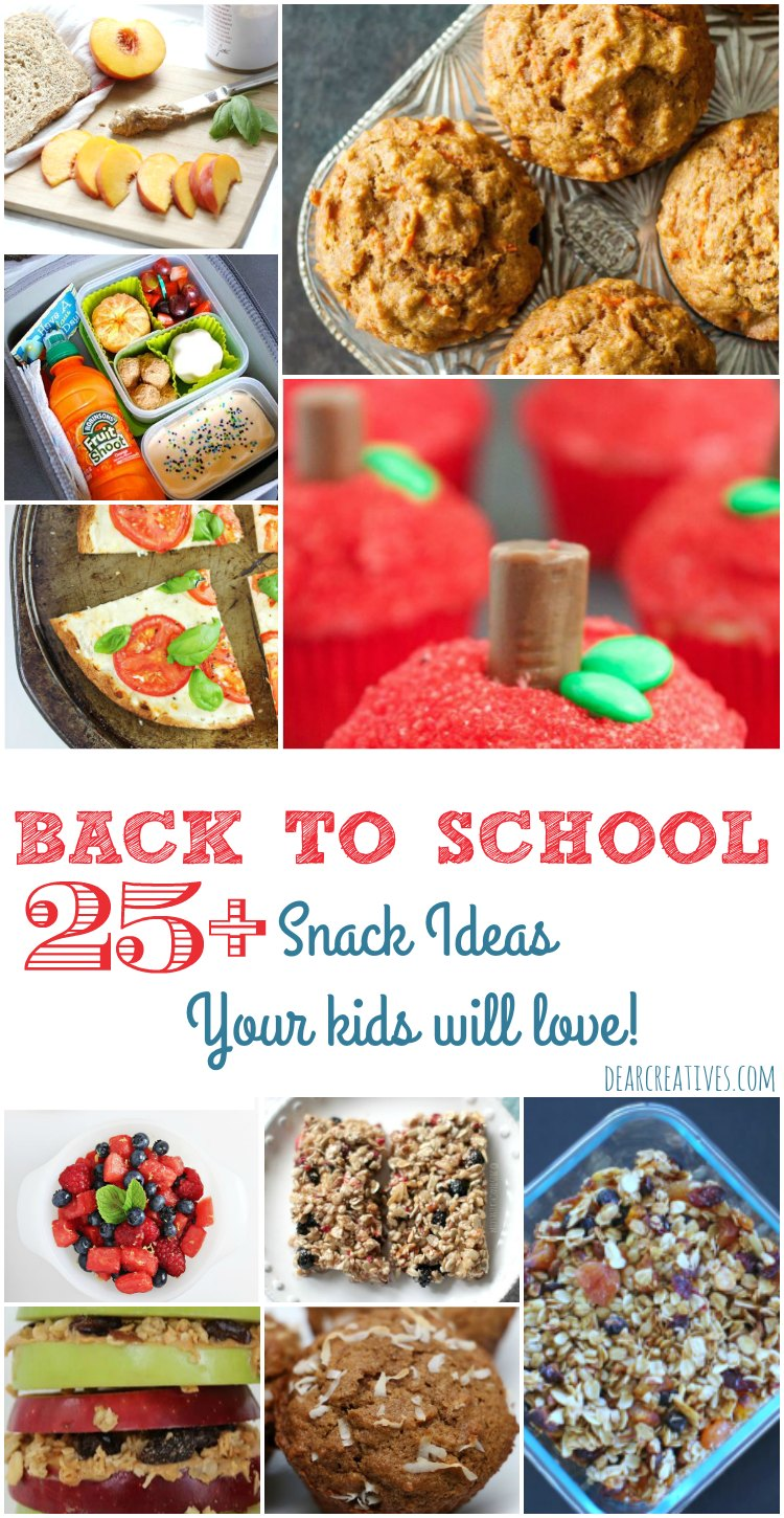 25+ Snack Ideas and Recipes That Your Kids Will Love!